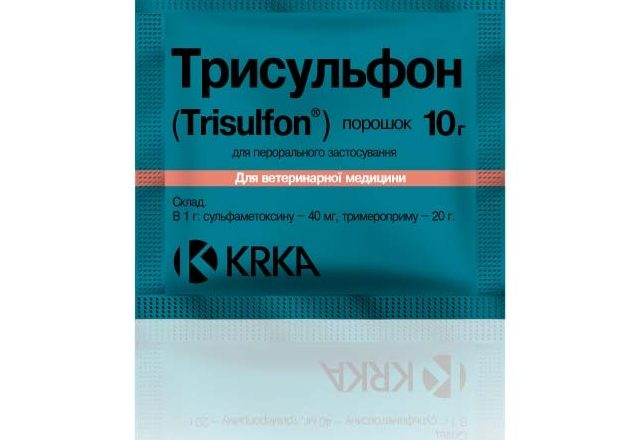 Preparation Trisulfon for the treatment of diseases in rabbits