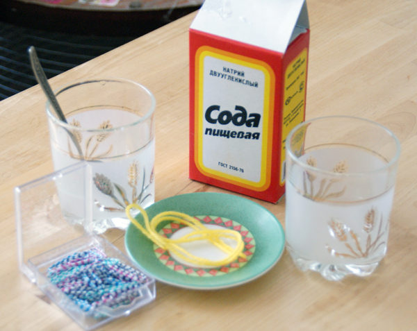 In case of poisoning, it is desirable to drink soda solution and induce vomiting.